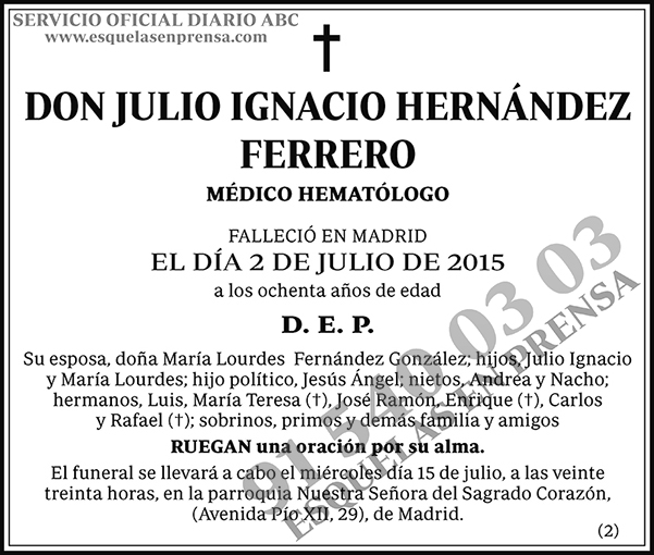 Julio Ignacio Hernández Ferrero